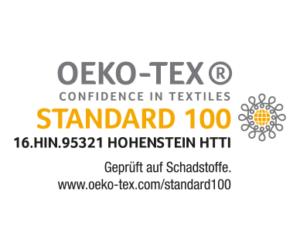 Wir bedrucken nur OEKO-TEX zertifizierte Baumwolltaschen!