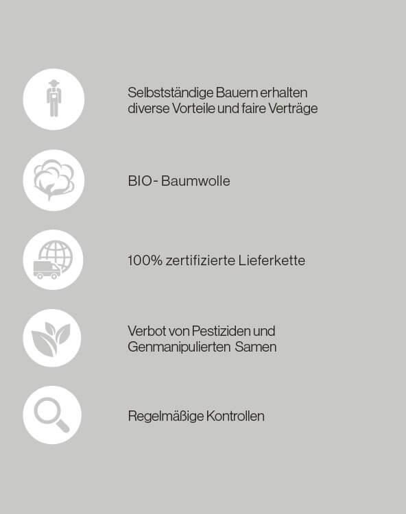 Eigenschaften der Mister Bags Biobaumwolltaschen