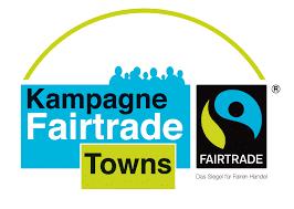 Gün-schwarz-blaues Fairtrade Towns Logo